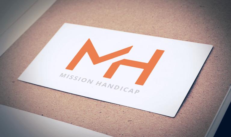 Aperçu du logo de Mission Handicap réalisé dans le cadre d'une communication sur-mesure