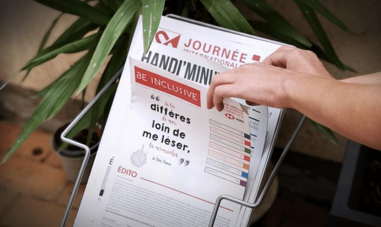 Aperçu journal Handi'Minutes et Be Inclusive parmi d'autres journaux