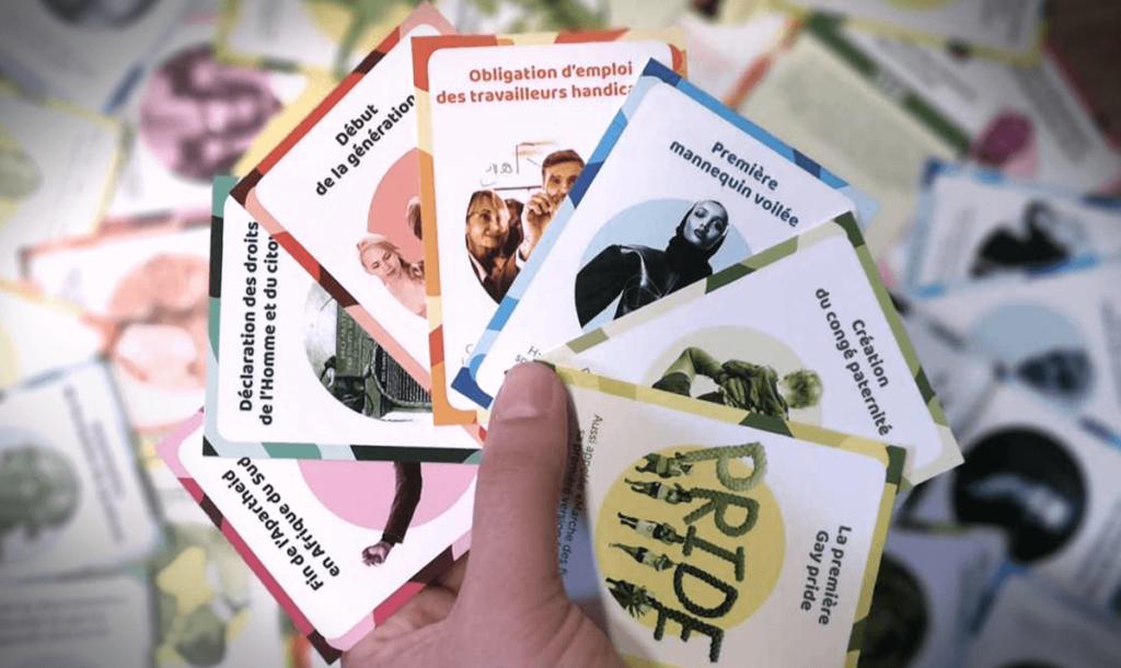 Présentation de quelques cartes du jeu Timelapse diversité