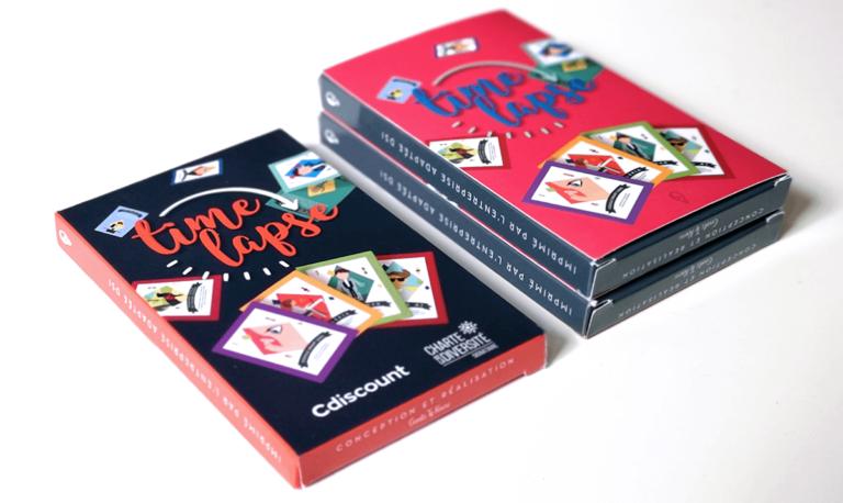 Aperçu de différentes boites du jeu de cartes Timelapse